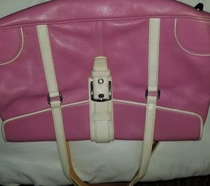 Authentic Pink and White Coach Bag